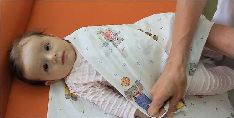 пеленать ребёнка